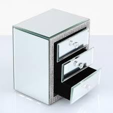 mirrored glitz 3 drawer jewellery box