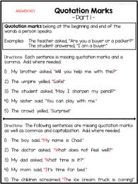 Practice Paper Quotation Marks Practice Papers Freebie By Abc123is4me Tpt