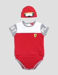 scuderia ferrari infant scuderia ferrari suit and hat set baby kids