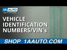 10th Digit Vin Number Chart Vin Number Decoding 1a Auto