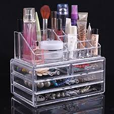 topsalon acrylic cosmetic organizer 4 drawers drawer makeup case storage holder box