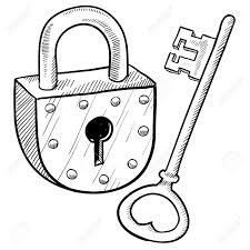 lock and key drawing. Simple And Doodle Style Antique Lock And Key Illustration Stock Vector  11670368 On Lock And Key Drawing X