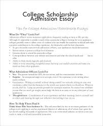 College Scholarship Essays College Essay Example 7 Samples In Word Pdf