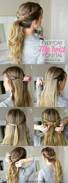 Quick Ponytail Hairstyles Best 25 Easy Ponytail Hairstyles Ideas On Pinterest Easy Hair