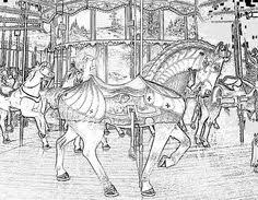 Small Picture Carousel Horse Coloring Pages SEE THE COLORING IMAGE 97K JPG