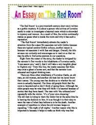 the red room is a pre twentieth century short story written as a  page 1 zoom in