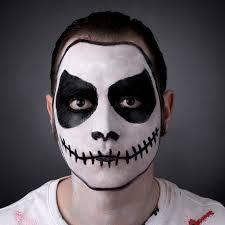 how to do skeleton face makeup skull face paint step step poundland