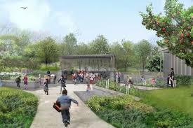 children garden. a newly built garden for children, the discovery garden, will open in june at children