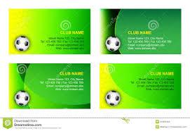 Soccer Business Card Soccer Business Card Template Stock Vector Illustration Of