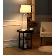 love floor lamp with usb port 2 in1 modern side table white shade throughout side table