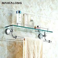bathroom glass shelves with towel bar bathroom shelf with towel bar glass bathroom shelf with towel