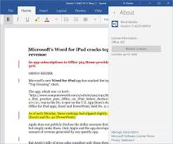 Windows 365 Office Office For Windows 10 Will Require Office 365 Subscription