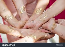 Macro Shot Temporary Tattoo Ring On Stock Photo Edit Now