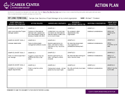 excelsior college make a plan meet your goals sample action plan