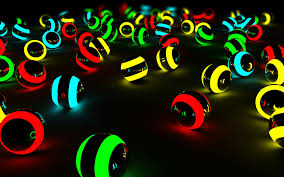 Free download Neon 3d balls wallpaper ...