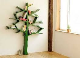 wooden tree with book shelves ...
