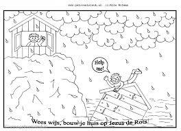 Wees Wijs Bouw Je Huis Op Jezus De Rots Clipart Geloven Is Leuk