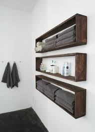 Wall towel storage Built In Individual Dissembled Crate Shelves Homebnc 34 Best Towel Storage Ideas And Designs For 2019
