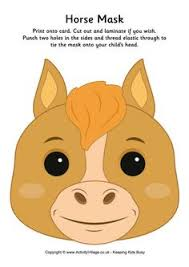 Card Masks To Decorate Horse or Unicorn Printed Card Masks for Kids to Decorate Pack of 87