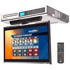 cabinet under cabinet tv mount swivel venturer klv3915 under cabinet kitchen tv right side of