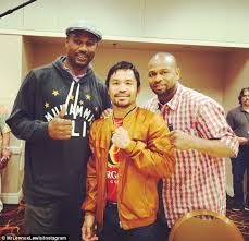 lennox lewis t shirt. lewis poses with pacquiao and roy jones after pacman\u0027s pre-fight interview in las vegas lennox t shirt e