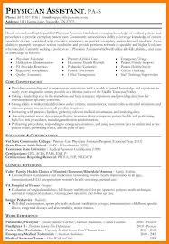 Physician Assistant Resume Examples Mesmerizing 44848 Physician Assistant Resume Examples New Grad Nhprimarysource