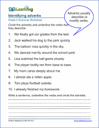 Adverb Worksheets for Elementary School - Printable & Free | K5 ...