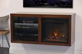 floating electric fireplace stand eco geo mocha woodwaves rustic mid century modern ecogeo double unit fire