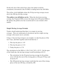 Golden Day Chart Open Simple Guide To Trading A Golden Cross