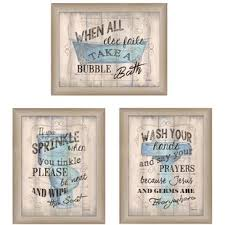 Art for bathroom Printable bathroom Humor Piece Framed Textual Art Set Wayfair Bath Laundry Wall Art