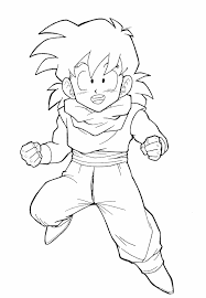Dragon Ball Z Goku Coloring Pages Getcoloringpagescom