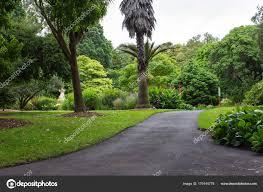Paved Roadway Luscious Garden Stock Photo Bgudgeon Iprimus Com