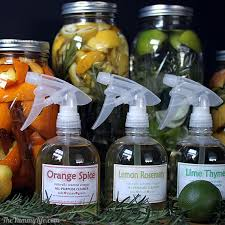 DIY Naturally Scented All-Purpose Cleaners. 4 varieties using vinegar,  citrus, herbs