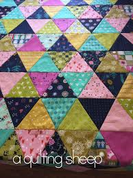 A Quilting Sheep: Cotton and Steel {Triangle Quilt} & 1.30.2016 Adamdwight.com