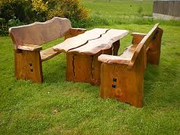 rustic garden furniture. Wooden Garden Furniture Rustic Bench With Woodworking