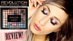 makeup revolution 144 eyeshadow palette 2016 collection review swatches demo dyna you