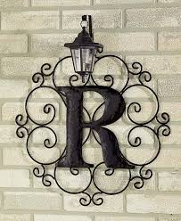 metal monogram solar light wall art hanging decor scrollwork frame 12 letters ebay on wall art letters metal with metal monogram solar light wall art hanging decor scrollwork frame