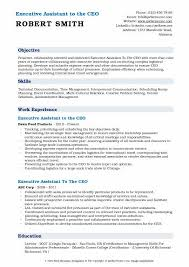 Modern Executive Assistant Resume Executive Assistant To The Ceo Resume Samples Qwikresume