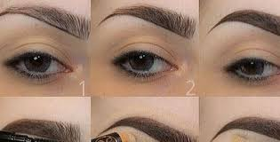 tutorial for smooth and natural eyebrows