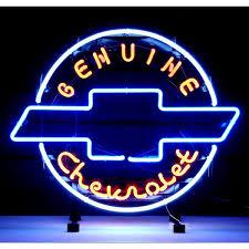 vintage chevrolet logo. genuine chevrolet heritage logo neon garage sign_d vintage n