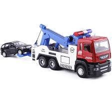 2019 Alloy Tow Truck 1/32 +Smaller Cars 1/64 #5009 1 Die Cast Car ...