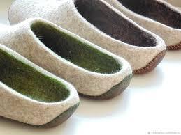 mens slippers leather sole studio felt katerina alekseeva