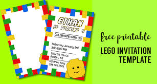 Party Template Free Printable Lego Birthday Party Invitation Template Paper Trail