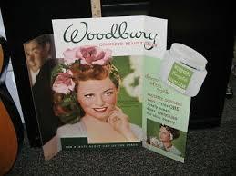 paulette dard 1940s wwii woodbury cosmetics display charlie chaplin