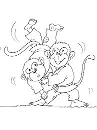 Coloriage Singes Judoka Dessin Gratuit Imprimer Coloriage A Dessiner Judo A Imprimer L