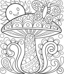 Small Picture Adult coloring pages mushroom sun butterfly ColoringStar