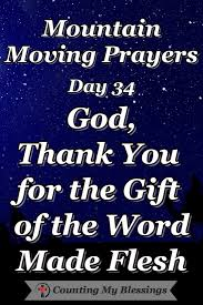 The Word Gift Day 34 God Thank You For The Gift Of The Word Made Flesh