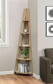 Oak Corner Shelving Birlea Nordic Scandinavian Retro Corner Ladder Bookcase Shelving 9