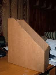 Magazine Holder Template Homemade Cardboard Magazine Box 100 Steps 24