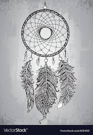 Drawn Dream Catchers Hand drawn dream catcher with feathers in Vector Image 36